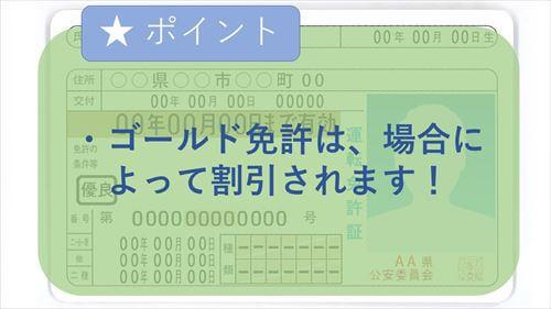 ゴールド免許は、場合によって割引されます