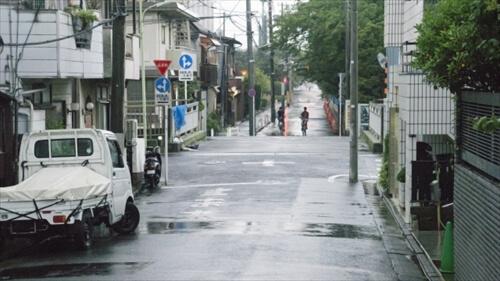 雨の日の引っ越し